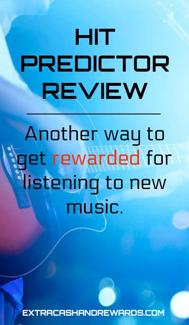 HitPredictor review - Another way to get rewarded for listening to new music. #getpaidtolisten #extracashideas #extramoney