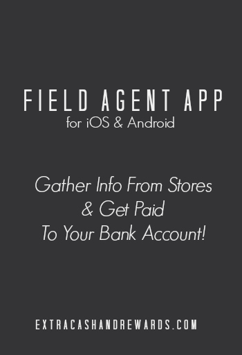 Field Agent app review - get paid for doing odd jobs and gathering information in your town from your smartphone. #makeextramoney #extramoneyideas #appsthatpay