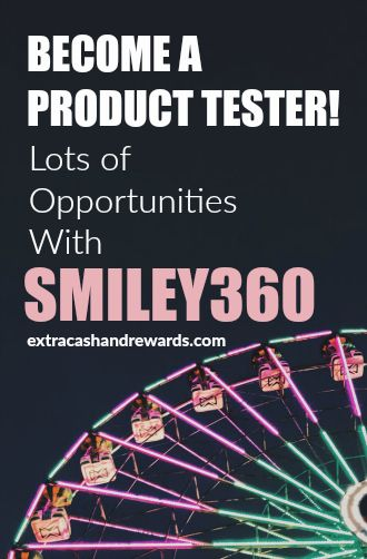 Smiley360 - become a product tester. #producttesting #extramoney #testfreestuff