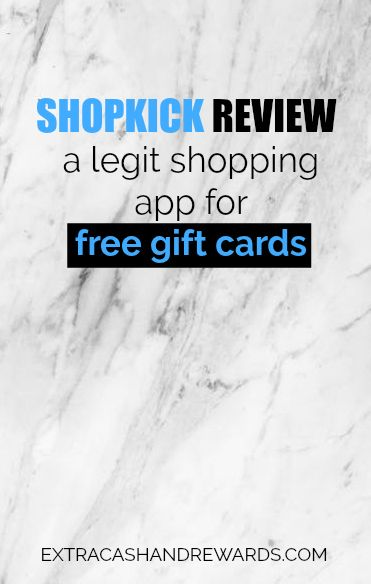 Shopkick review - A legit shopping app for free gift cards.