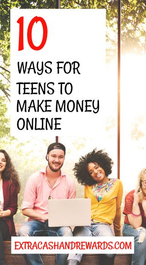 10 ways for teens to make money online. #workathome #workfromhome #extracash #extramoney